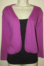 Womans Plus 5X Cotton Blend 3/4 Sleeve Bolero Shrug Cardigan New in Package