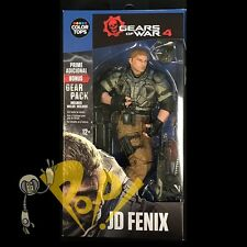 GEARS of WAR 4 Color Tops JD FENIX Blue Wave Action Figure McFARLANE Toys w/CODE