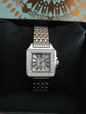 Royal Crown Women's Stainless Steel Watch with Cubic Zirconia