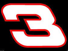 "1.5"" x 2.25"" Dale Earnhardt Sr. Number 3 Window Decals Stickers BUY 1 GET 1 FREE"