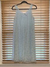 Vintage 1950s Shadowline Soft Blue Chiffon Double Layered Nightie. Size M
