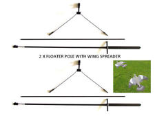 2 X FLOATER POLE WITH WING SPREADER - BOUNCER - PIGEON - CROW SHOOTING - HUNTING