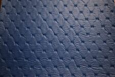 "30 Feet Pac Blue Diamond Embossed Marine Vinyl Fabric Boat Auto Upholstery 54"" W"