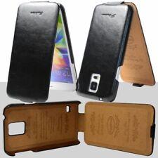 Fundas de color principal negro de piel sintética para teléfonos móviles y PDAs