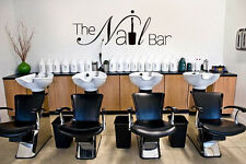 Vinyl Wall Decal Sticker Bedroom Nail bar salon hairdresser beauty woman r1579