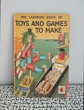 Vintage Retro Children's Ladybird Book Toys and Games To Make Series 633 18p