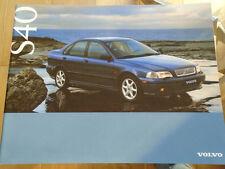 Volvo S40 range brochure May 1996