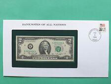 Stati Uniti due Dollari $2 FIOR montato Franklin Nuovo di zecca COVER SNo46078