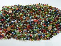 Two Pounds India Handmade Multicolor Glass Beads Wholesale Bulk Lot (CF-32)