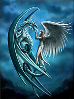 Full Diamond Painting Cartoon Angel Pterosaurs Dragon Fashion Handicraft 6209X