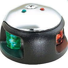 Attwood 3520-7 Stainless Steel 1 NMile LED R/G Deck Mt Bow Sidelight Light 8922
