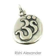 925 Sterling Silver Oval Ohm Charm American Made
