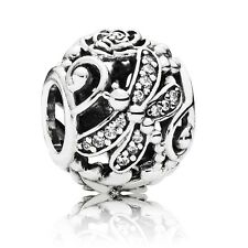 Authentic Pandora Dragonfly Meadow Sterling Silver Charm 791733CZ