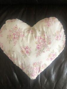 Rachel Ashwell Simply Shabby Chic Custom Pink Blush Beauty Heart Pillow