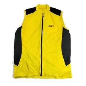 LG Louis Garneau Leisure Sleeveless Cycling Bike Jersey Yellow Black Men's XL