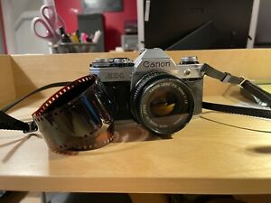 Canon AE-1 35mm SLR Camera with 50mm f/1.8 Lens - FILM TESTED!!