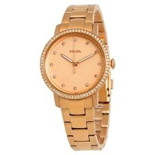 **NEW** LADIES FOSSIL CHRONO NEELY CRYSTAL ROSE GOLD WATCH - ES4288 - RRP £119