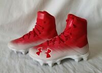 Under Armour Highlight 3000195-600 Red Football/Lacrosse Cleats Youth Size 1