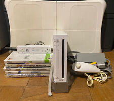 Nintendo Wii Console Bundle With Fit Balance Board Controller & Games Included