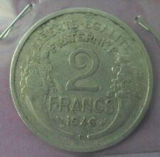 2 francs morlon aluminium 1946 B : TB : pièce de monnaie française N32