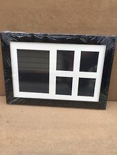 """14""""X9"""" Black Picture Frame With Multi Mount For School Pictures"""