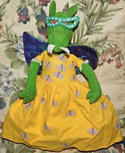 "Library Dragon Flip Doll Miss Lotta Scales Plush Stuffed 12"" RARE Toy Hard Find"