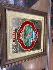 Leroux Imported Irish Cream Liqueur Mirror Bar Sign For Man Cave Cow & Milkmaid