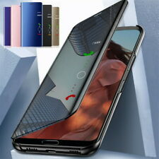 Shockproof Clear Mirror Leather Flip Stand Case Cover For OnePlus 7T Pro 7 6T 5T