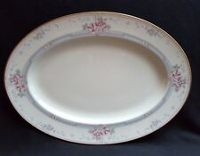 "Lovely Noritake Magnificence Fine China 14"" Oval Serving Platter #9736"