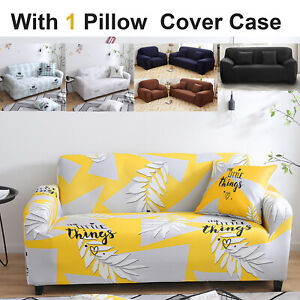 1 2 3 Seater Sofa Covers Stretch Couch Lounge Recliner Chair Slipcover Protector