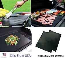 2Pcs Reusable Copper BBQ Grill Mat Bake Non Stick Grilling Mats Barbecue Pad #d