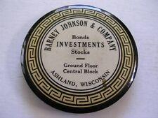 Barney Johnson & Company Bonds Investments Stocks Ashland WI Advertising Mirror