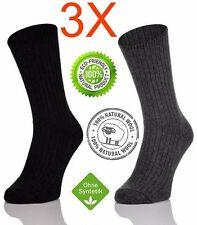 3 Paar Thermo Socken Thermosocken Wintersocken 100% Wollsocken Schafwollsocken