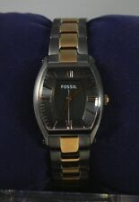 Fossil ES3059 Lady's Wallace Rose Gold-tone & Charcoal Stainless Steel Watch NEW