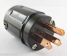 1pc High Quality Pure Copper P-029 US Power Plug IEC Connector for Audio Black
