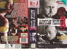 Vhs *American History X* 1998 Australian Roadshow Home Video - Edward Norton!