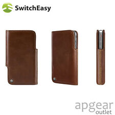 original switch easy sw-dui4-t duo braun leder hülle case cover iphone 4 4s