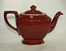 Vintage Hall Made in USA Hollywood Teapot Red Maroon Burgundy 6 Cup~EUC