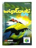 Notice jeu N64 Wipeout 64 Nintendo 64 Livret Instruction Manuel PAL EUU