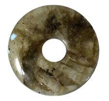 Labradorite Donut 30 mm Pendentif/Labradorite Donut dn176