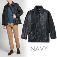 BARBOUR MENS CLASSIC BEDALE WAX JACKET MWX0018NY91 COLOR: NAVY (SIZE: 36)