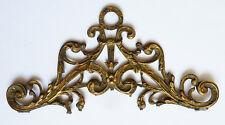 Petit fronton de meuble ou cadre 18e siècle en bronze doré 18th century lock
