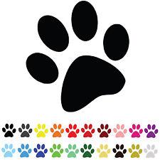 22 PAW PRINT STICKERS Wall Transfers Vinyl Car Caravan Window Mirror Dog Cat