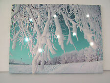 LED Scena Di Neve Natale A Muro Decorazione Nuovissimo #22