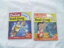 Two new factory sealed Disney CD Read Along books - Cinderella and Lilo & Stitch