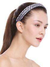 Haarband Haarreif geflochten Tracht traditionell silbergrau braid CXT-002-804