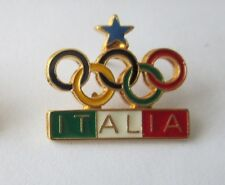 1988 CALGARY WINTER OLYMPICS ITALIA ITALY NOC PIN BADGE ORIGINAL BERTONI POUCH