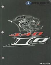 2006 POLARIS 440 IQ SNOWMOBILE SERVICE MANUAL P/N 9919760 (799)