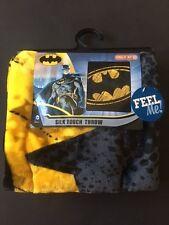 """BATMAN / 40"""" x 50"""" SILK TOUCH THROW - NEW! - BATMAN LOGO - super soft - w/ tags!"""