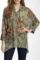 NEW Da-Nang Surplus Blouse/ Top Flowy Silk Woven 3/4 Sleeves 401 GGT2403 XS/S